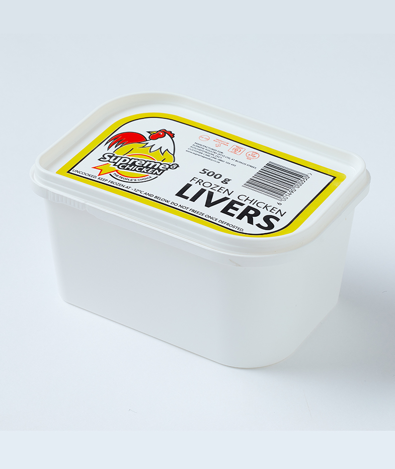 Frozen chicken livers - 500g