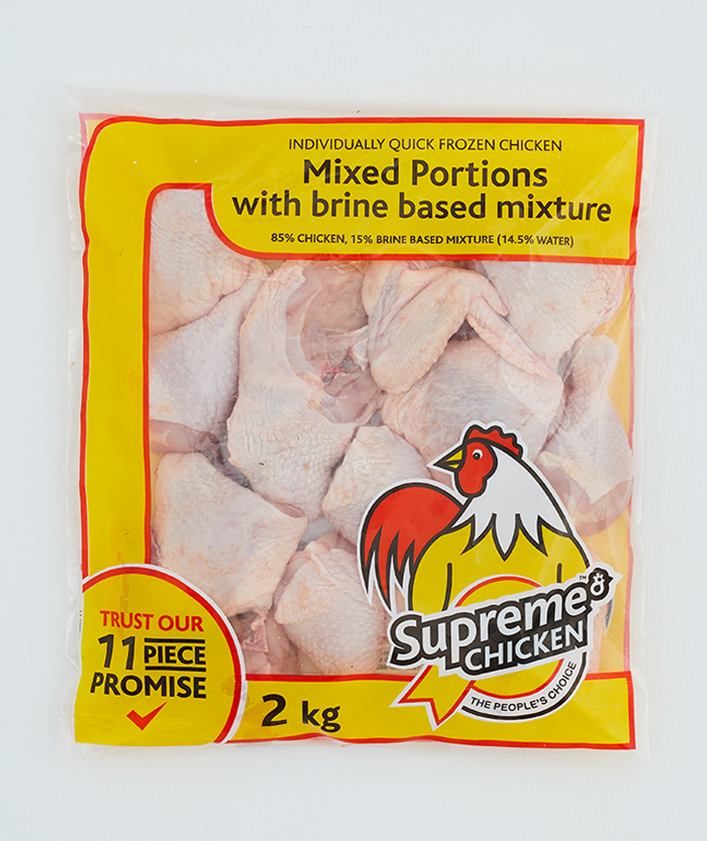 Mixed portions with brine based mixture (2kg)
